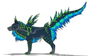 Peacock Canine Design Contest by VorpalBeast