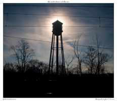 the water tower and the sun by yellowcaseartist