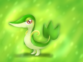 Snivy - tablet test by IcelectricSpyro