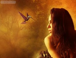 Woman and Bird... by MagicalPictureMaker