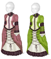 Victorian Dresses by catghost-designs