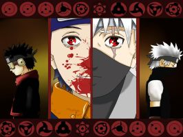 Obito and kakashi by freaky135