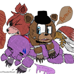 Doggy-Pile! - Males of Fnaf by ThunderXLeaf