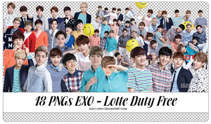 18 PNGs EXO - Lotte Duty Free Magazine by SickyJinny