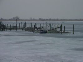 Dock on Ice by ArtieWallace