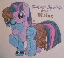 Request: Alicorn Twilight Sparkle and Blaine!!! by TopazBeats