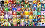 Smash Bros. for 3DS with 76 Characters (by debut) by MachRiderZ
