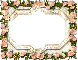 Antique Rose Frame by ScrapBee