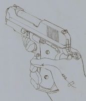 new pistol of HALF-LIFE 3 by DOLARES12