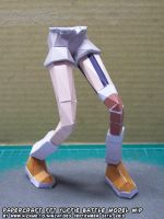 Papercraft FF7 Yuffie legs test build by ninjatoespapercraft