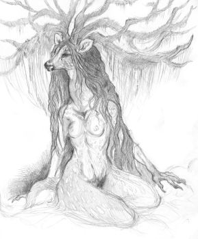 swampy spoopy witch deer. by Maquenda