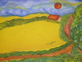 yellow field 2 nearer by ingeline-art