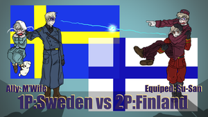Hetalia Fight :1P Sweden vs 2P Finland by Sagealina