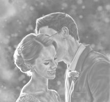Lily and James - Black and White by oxShadowCatxo