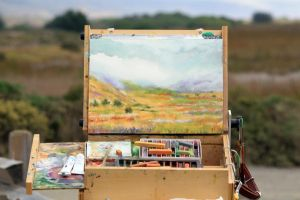 Plein Air - Point Reyes, Ca by geralddedios