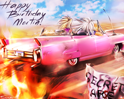 Marik and Bakura Go to Martin's Birthday! by taemanaku