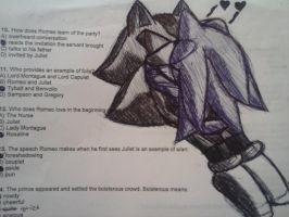 My sketch on my test for english.. by Redrose44