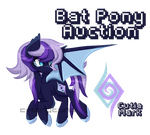 MLP - Bat Pony Auction [CLOSED] by CindryTuna