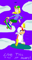 Kick Buttowski - Kick-Kendall - Flying Kindall by TXToonGuy1037