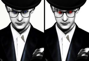 Brothers In Glasses_B (DmC Vergil) by Kunoichi1111