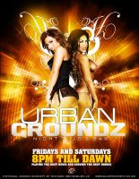 Urban Groundz Club Poster by rjartwork