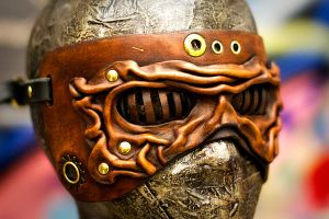 Steampunkish Wrinkled Mask by OsborneArts
