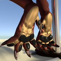 Dangling Dragon Feet Relaxing by foxypaws86
