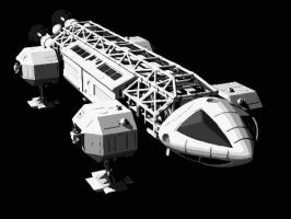 Space 1999 Eagle Space Craft Paint By Number Kit by numberedart