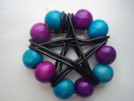 Blue and Purple Pentacle by NaMiKiTtIn