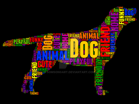 Dog 6 typography by somsongart