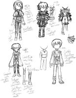 Sketches: Sorcerer's Symphony Casual 3 by MaryKosmosVer2