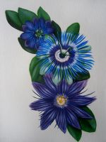Passion flowers by Finnish-Penguin