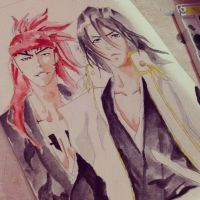 Byakuya kuchiki and abarai renji by ayacan