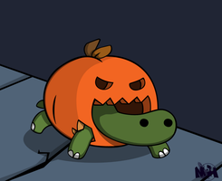 Halloween Turtle by pikmin789