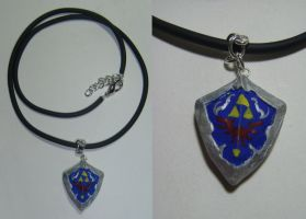 Hylian Shield Sculpey Charm by Ethenae