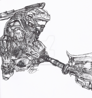 Halo Reach - Gravity Hammer by OctoberReign