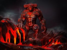 Lava Demon by Danwhitedesigns