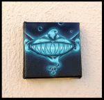 Glowing Cheshire Cat Mini Painting by natamon