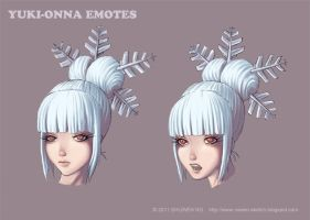 Yuki- Onna Emotes by ns-wen