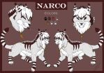 Narco's ref sheet by Treekami