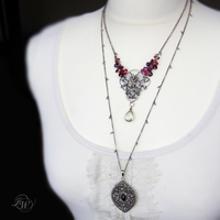 SOMMEIL - double necklace by JoannaWatracz