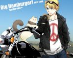 APH: big hamburger postcard by waterylt