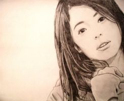 asian girl by PenclGuy