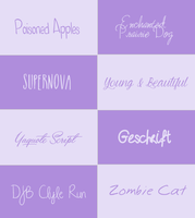 Fonts Pack #005 by its-LostGirl-drt