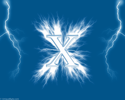 The X and flashes 1280x1024 by Cifro