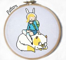 Fionna and Cake cross stitch pattern by JuliefooDesigns