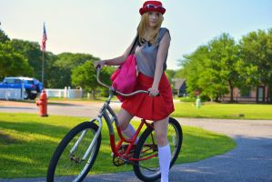 Serena on Her Bike by CosplayMaster