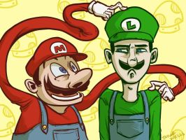 Super Mario Bothers by Taylor-the-Weird