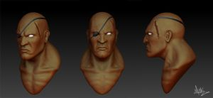 Sagat 3D by mykmykmyk