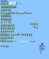 MLSS Flying Squirrel Luigi Sprites Sheet by PxlCobit